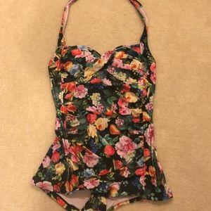 Anthropologie Seafolly Summer Garden bathing suit